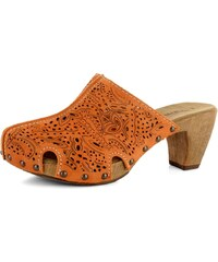 Tamaris pantofle nazouváky Orange