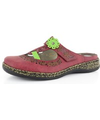 Rieker pantofle bordó