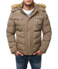 Pánská béžová zimní bunda 3018