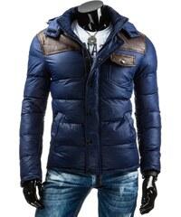 Tmavě modrá zimní bunda pánská (tx1105)