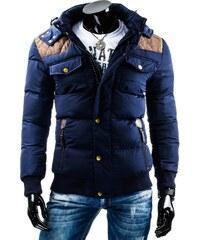 Tmavě modrá pánská zimní bunda (tx0734)