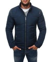Luxusní tmavě modrá zimní bunda 3048