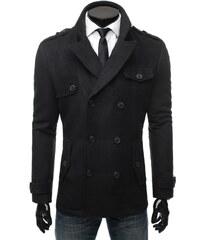 Vkusný černý kabát podzimní 3053