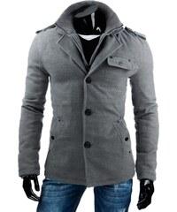 Vkusný pánský kabát šedý