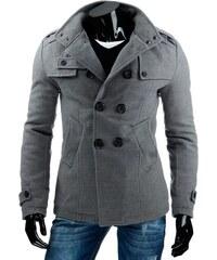 Pánský kabát šedý v elegantním provedení