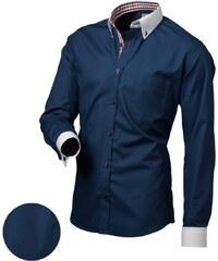 Victorio Pánská stylová košile modrá D01