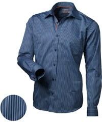 Victorio Modrá stylová pánská košile V136