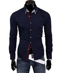 Artista Modrá slim fit pánská košile V28