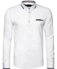 Bílá košile v poutavém designu OZONEE 2224