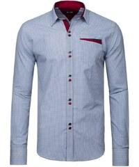 Výrazná kostkovaná košile s dlouhým rukávem Zazzoni 943