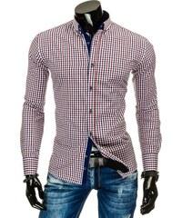 Krásná moderní pánská košile s výraznou barvou