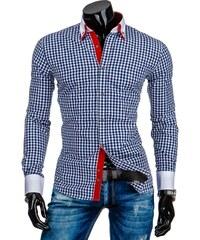 Kostkovaná pánská košile modrobílá