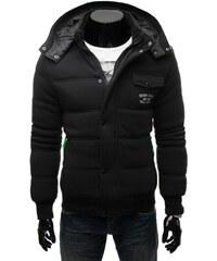 Teplá černá pánská bunda MOGA 229