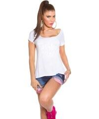 Koucla Bílé ležérní dámské tričko