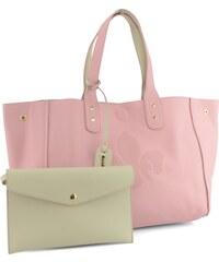 Rieker kabelka béžová/růžová oboustranná