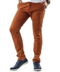 Pohodlné oranžové kalhoty pro pány