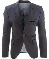 Tmavě šedé stylové pánské sako