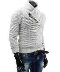 Vzorovaný bílý svetr pro pány