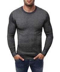 Černý pánský svetr se vzorem BRUNO LEONI 260