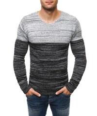 Elegantní pruhovaný černo-bílý svetr 25008