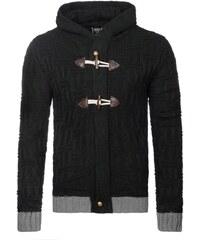 Hřejivý svetr černé barvy 303