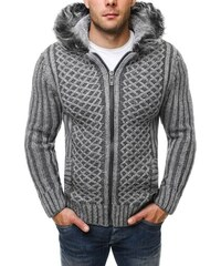Šedý elegantní zimní svetr 4800