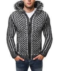 Černý zateplený zimní svetr 4800