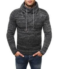Moderní černý svetr pro pány 7102