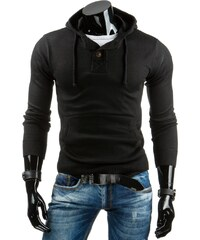 Pohodlný černý svetr pro pány (wx0687)