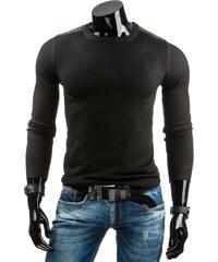 Pohodlný černý svetr pro pány (wx0691)