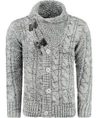 Moderní svetr pánský šedý (wx0720)