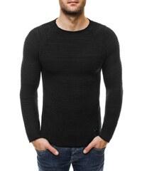 Elegantní černý pruhovaný svetr 256005