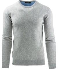 Moderní pohodlný pánský šedý svetr