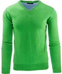 Moderní světle zelený pánský svetr