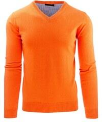 Moderní oranžový svetr