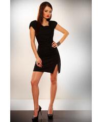 fionella Dámské černé krátké šaty