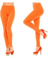 Oranžové bavlněné legíny