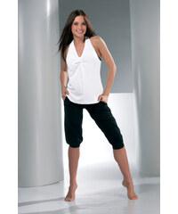 Mrs Fitness Top s širšími ramínkami Andrea bílý
