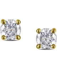 KLENOTA Elegantní diamantové náušnice, 0.25 kt