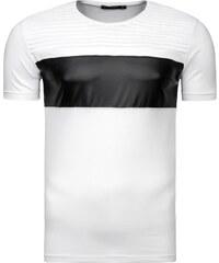 Výrazné bílé tričko s lemem Athletic 9033