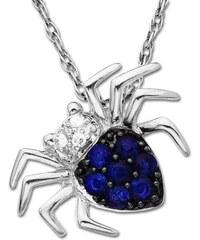 KLENOTA Přívěsek ve tvaru pavouka se safíry a diamanty