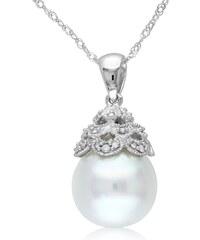 KLENOTA Náhrdelník s perlou Jižního Pacifiku a diamanty