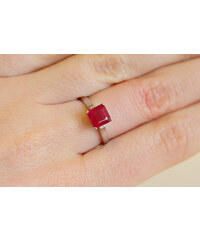 KLENOTA Prsten s rubínem