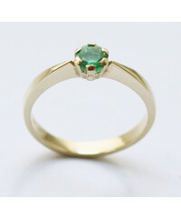 KLENOTA Prsten ze zlata se smaragdem