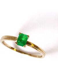 KLENOTA Smaragdový zlatý prsten
