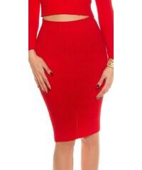 Koucla Elegantní úpletová sukně
