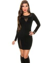 Koucla Černé úpletové šaty II. jakost