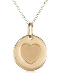 KLENOTA Zlatý náhrdelník s medailonkem srdce