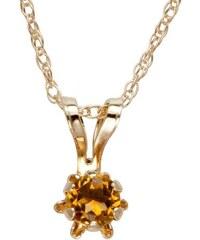 KLENOTA Dětský náhrdelník s citrínem