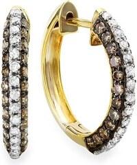 KLENOTA Zlaté kruhové náušnice s diamanty